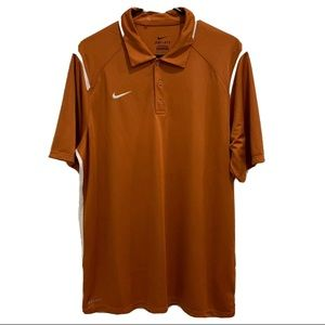 Men's Nike Dri Fit Golf Polo Orange/White Large